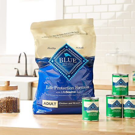 """Promising review: """"This is the best food. Nutritious and delicious, at least that's what all six of my dogs say!"""" —wvwitchPrice: .98+ for the dry food (available in four sizes) and .99 for a 12 cans of wet food"""