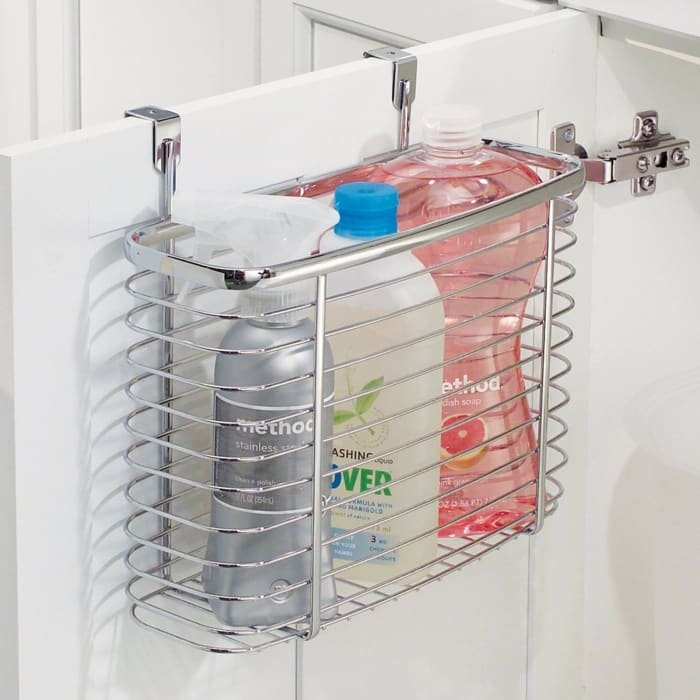 "Promising review: ""This over-the-cabinet bin is a convenient way to free up space in a crowded cabinet."" —Tousson 