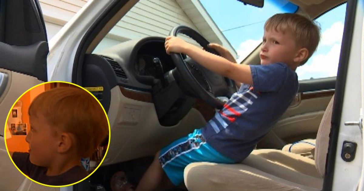 3 245.jpg?resize=1200,630 - A Four-year-old Boy Drove The Car Of His Great Grandfather To A Gas Station - The Reason Will Make You Laugh Out Loud