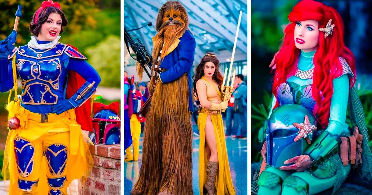 4 58.jpg?resize=1200,630 - Las princesas de Disney y el mundo Star Wars hicieron el mejor crossover de la historia