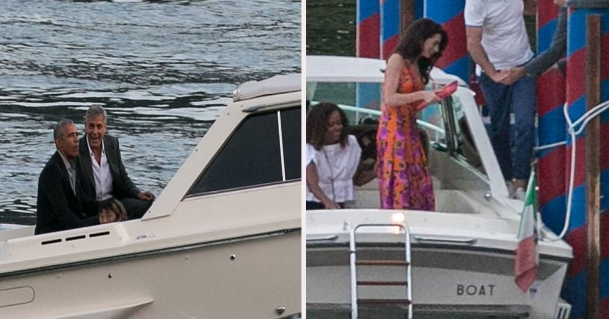 45 3.jpg?resize=412,275 - Barack Obama And His Family Joined Clooney On A Boat Trip In Lake Como