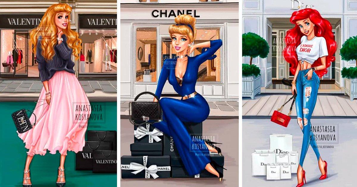 5 44.jpg?resize=412,232 - Artista rusa convierte a las princesas de Disney en diosas de la moda