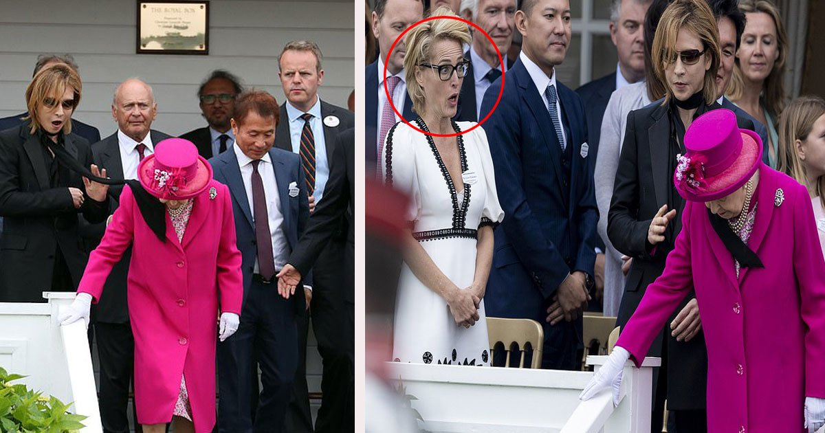 68.jpg?resize=412,232 - Moment délicat lorsque la reine Elizabeth II a été frappée au visage par un foulard, Gillian Anderson horrifiée