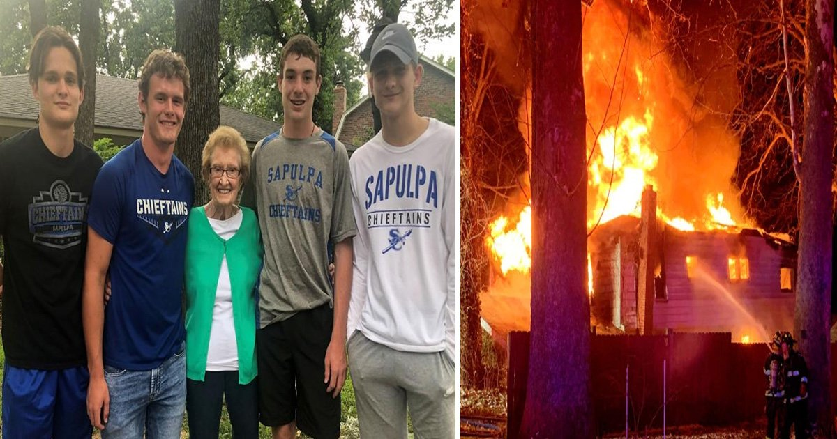 7 53.jpg?resize=1200,630 - These Teenagers Saved A Ninety Year Old Lady Who Was Encapsulated By Fire In Her Own Home