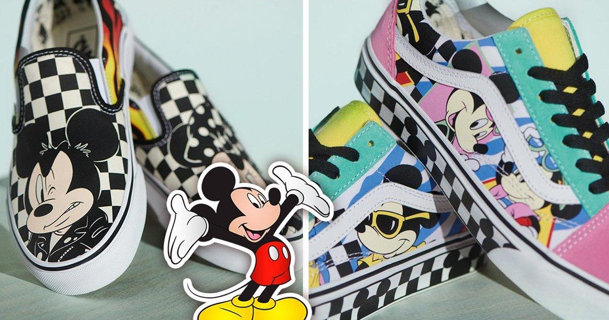 9 49.jpg?resize=1200,630 - Vans y Disney lanzan increíble colección de tenis inspirada en el ratón más querido: ¡Mickey Mouse!