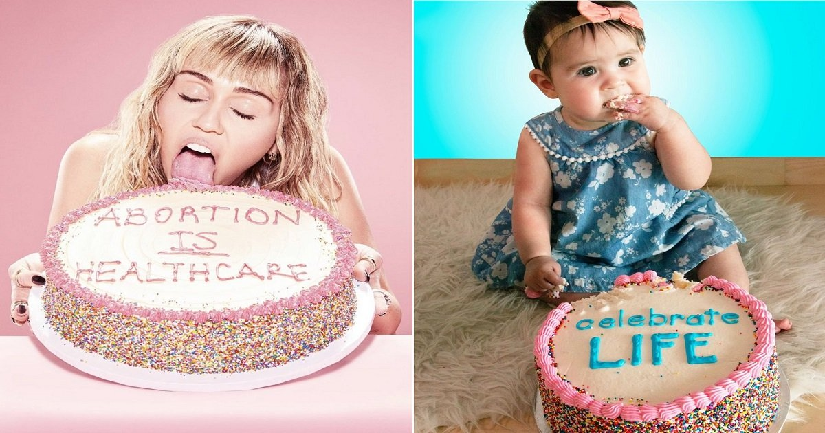 a3 10.jpg?resize=1200,630 - After Miley Cyrus' Abortion Cake Photo Went Viral, Pro-Life Groups Pushed Back With Their Own Versions