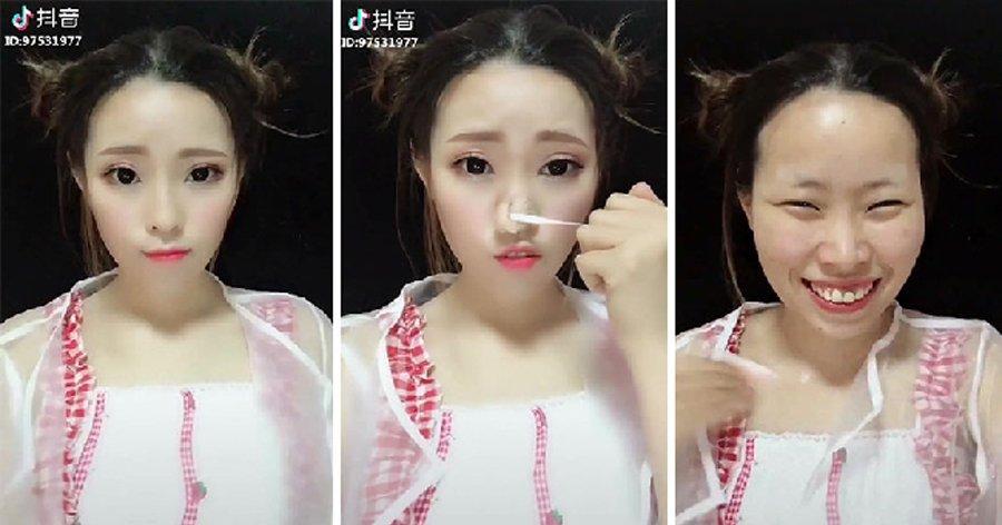 a6 9.jpg?resize=1200,630 - Coisa de mestre! 18 Asiáticas mostrando a diferença que a maquiagem faz