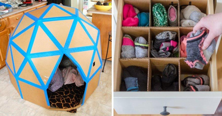 a8 6.jpg?resize=1200,630 - 15 Ideias simples para usar caixas de papelão na decoração