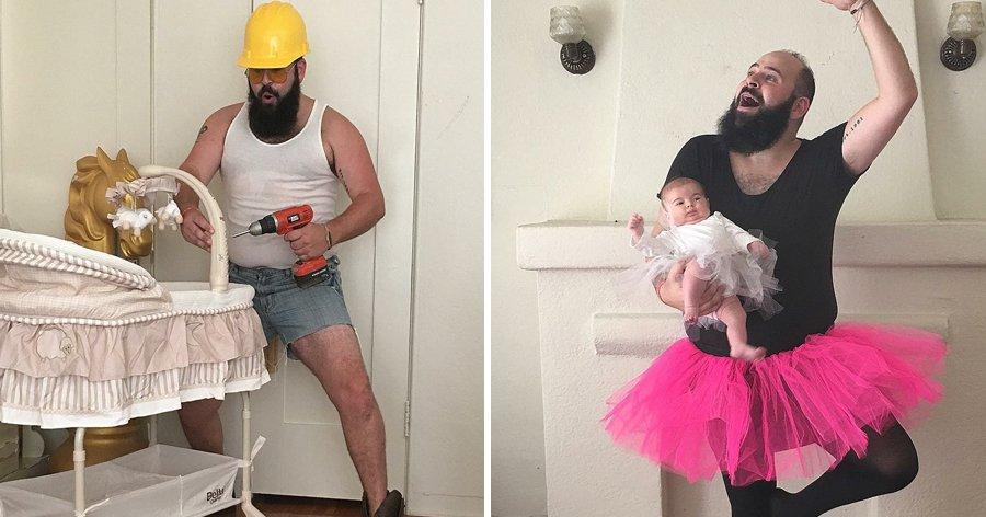 a9 13.jpg?resize=1200,630 - 15+ Fotos criativas de um homem que entende a importância do humor na paternidade (nova seleção)