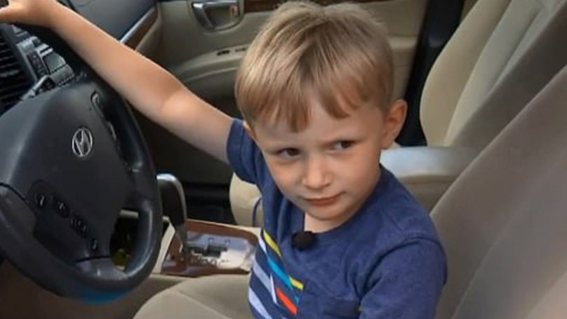 Four-Year-Old Boy Drives Great Grandfather
