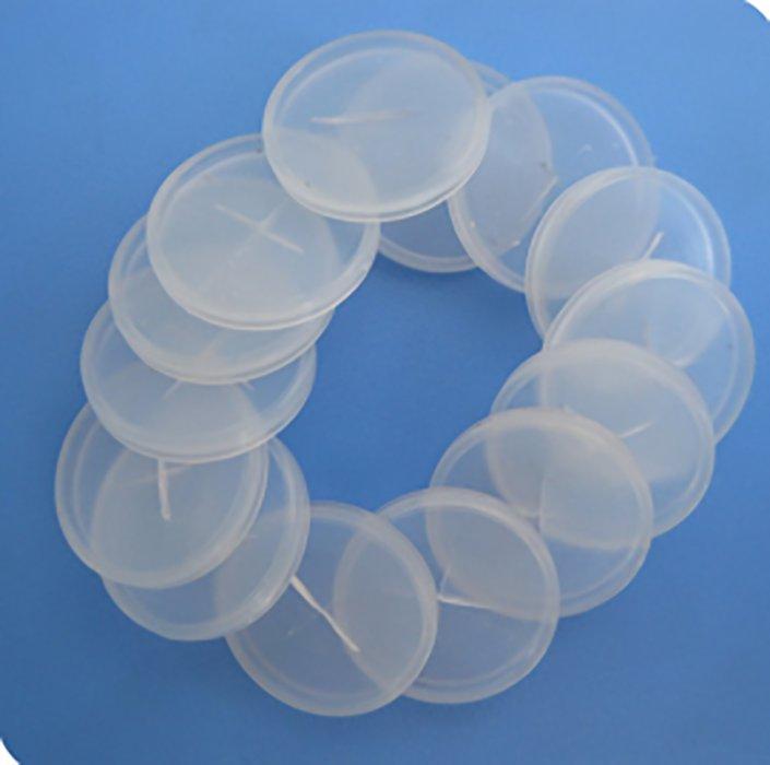 pequeño disco de plástico