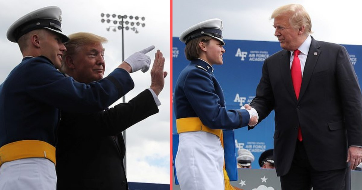 d1 1.png?resize=1200,630 - Trump Attended The Graduation Ceremony at Air Force Academy Colorado