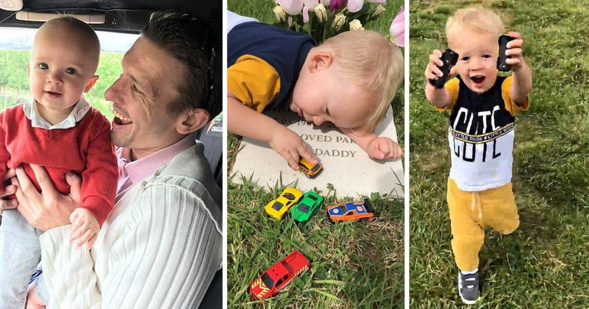 d2 7.png?resize=300,169 - Un petit garçon de deux ans chante et joue sur la pierre tombale de son père