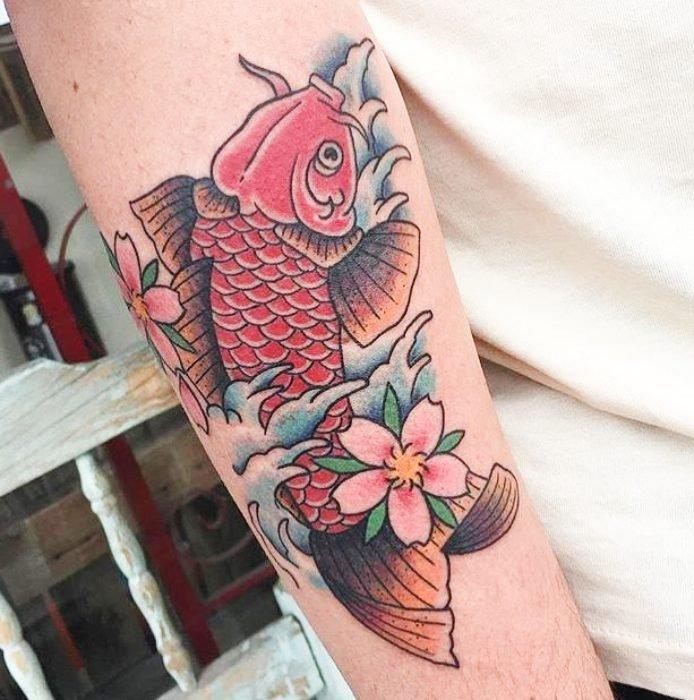 tatuajes peces koi