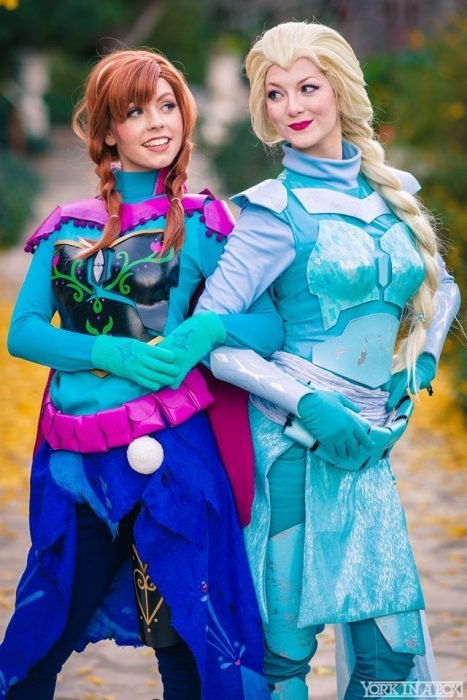 Cosplay de Frozen combinado con Star Wars
