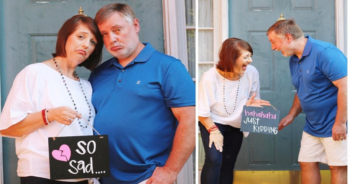 """e3.jpg?resize=1200,630 - These Parents Became Viral Sensations After Celebrating Their Youngest Daughter Moving Out With Hilarious """"Empty Nester"""" Photo Shoot"""
