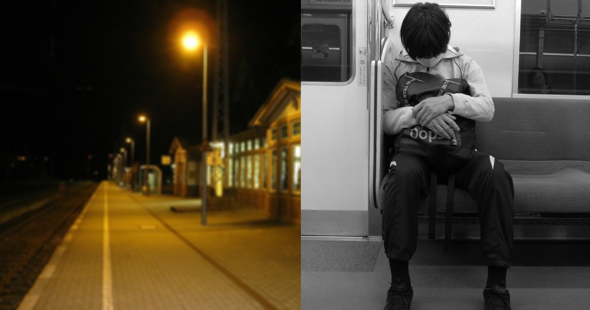 e696b0e5bbbae9a1b9e79bae 5.png?resize=1200,630 - 電車で寝過ごした学生、目が覚めて『駅名』を確認した瞬間に衝撃が走る…!