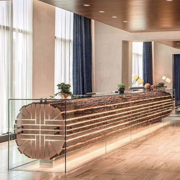 Reception Desk At The Douglas Hotel By Acdf Architecture