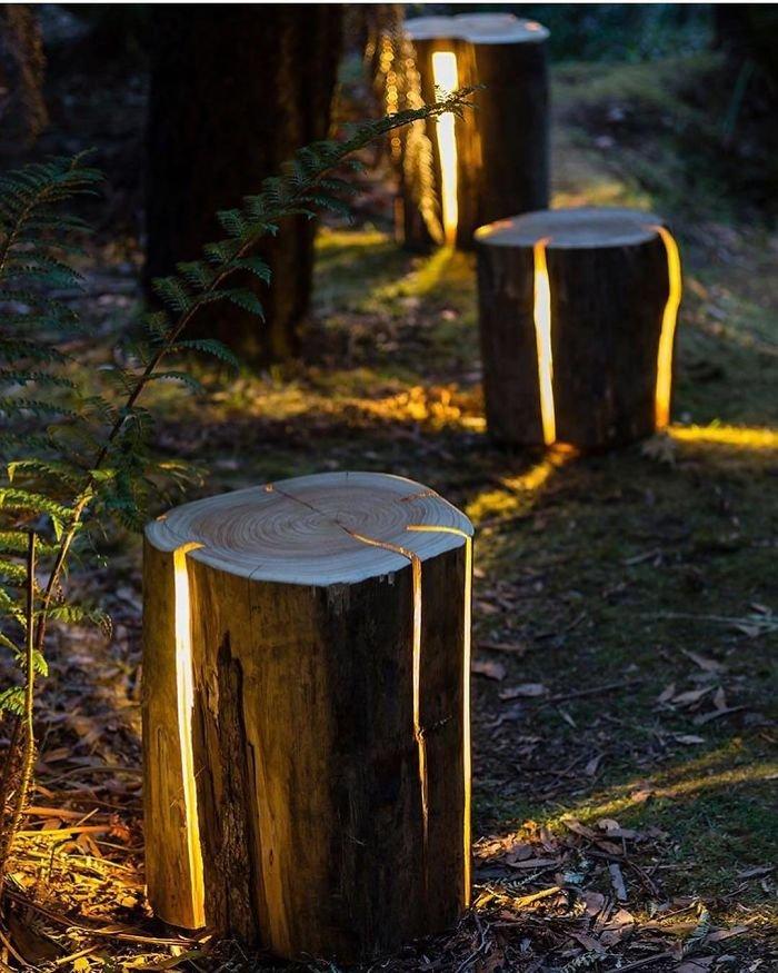 Cracked Log Lamp By Duncan Meerding