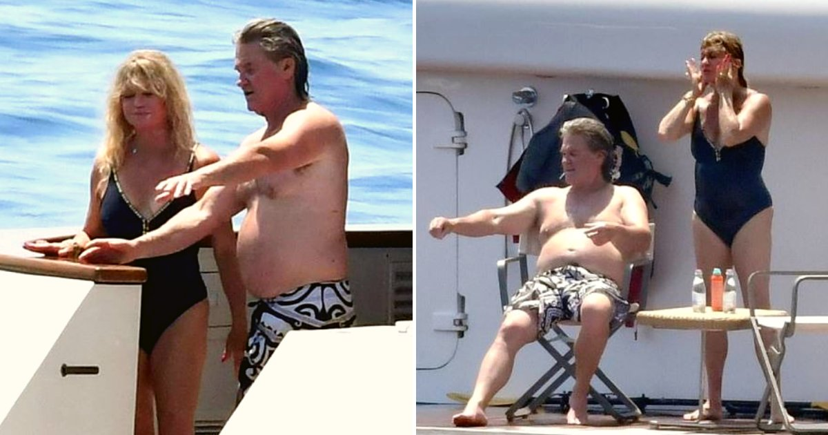 goldie6.png?resize=1200,630 - Kurt Russell And Goldie Hawn Were Seen Enjoying The Sun On A Yacht On Italy's Amalfi Coast
