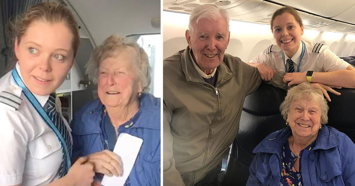 granddaughter pilot surprises grandparents.jpg?resize=1200,630 - Grandparents Were Left Surprised After Seeing Their Granddaughter In A Pilot's Uniform As They Boarded The Plane