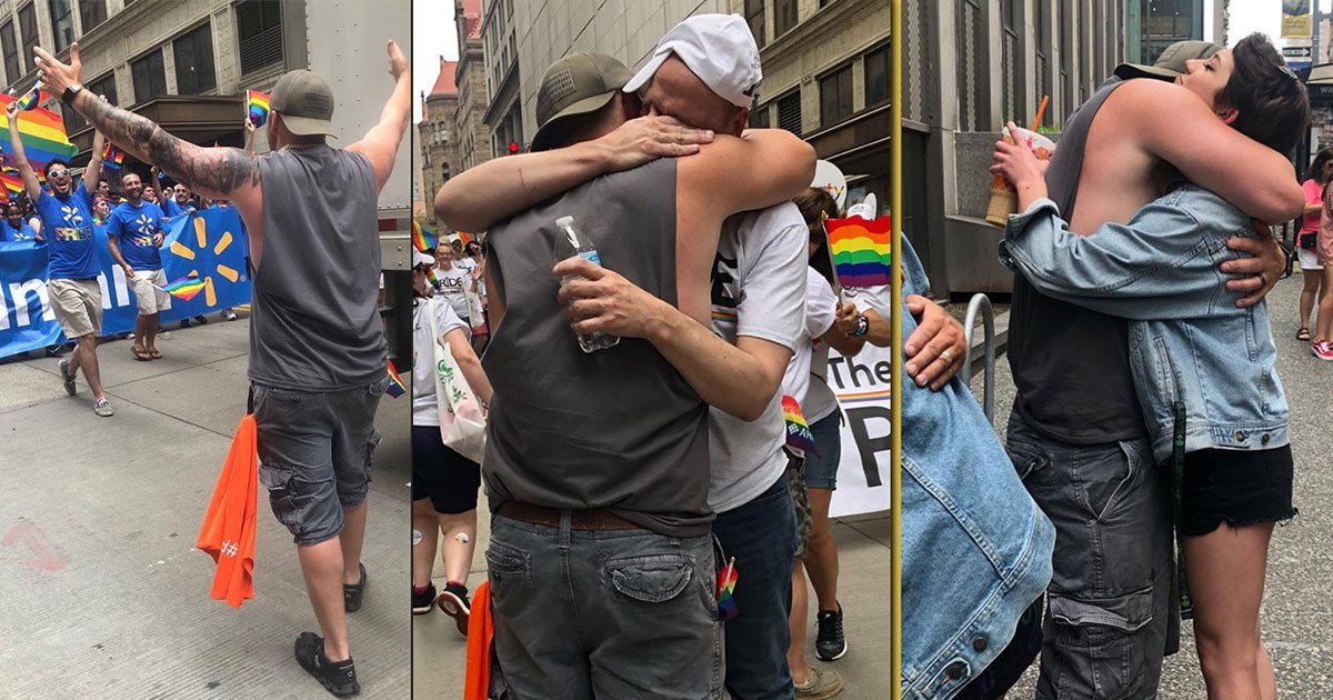 h.jpg?resize=412,275 - Man Offered 'Free Dad Hugs' At A Pride Parade And People Fell Into His Arms Crying