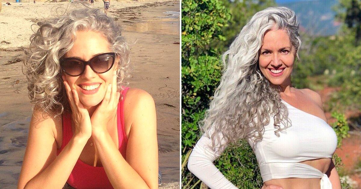 hair10.png?resize=412,232 - Une femme dont les cheveux sont devenus gris «du jour au lendemain» à l'âge de 21 ans se sent maintenant plus heureuse alors qu'elle accepte ses mèches argentées naturelles