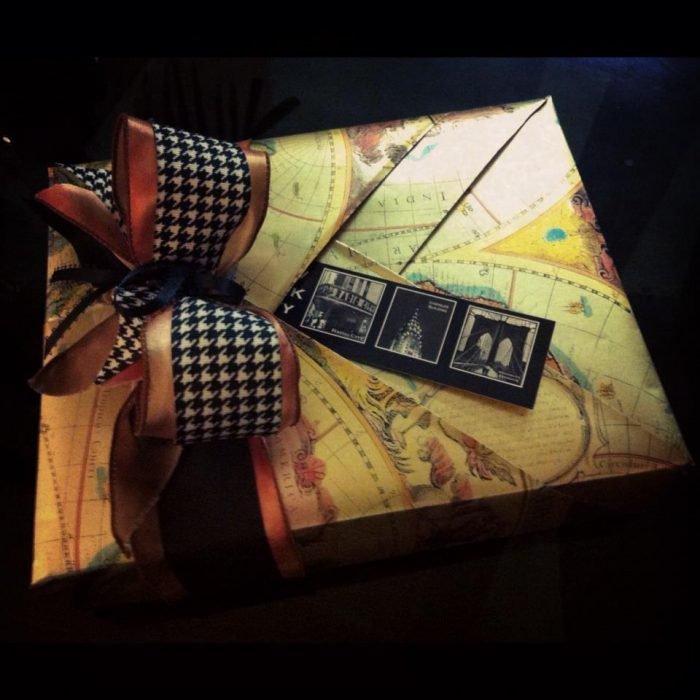 envoltura de regalo para viajeros