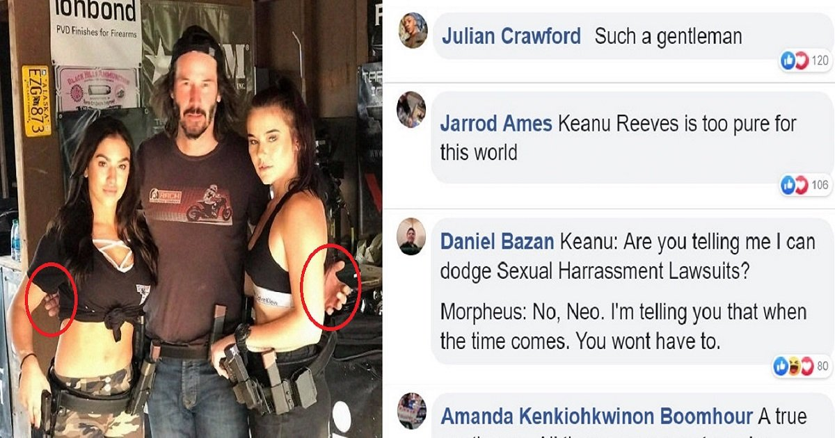k18.jpg?resize=412,232 - Keanu Reeves Never Touches The People He Poses With And Fans Love Him For It