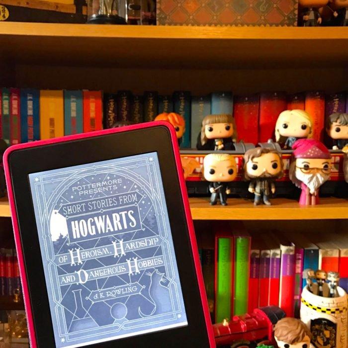 Portada dle libro Historias cortas de Hogwarts de heroísmo, dificultades y hobbies peligrosos