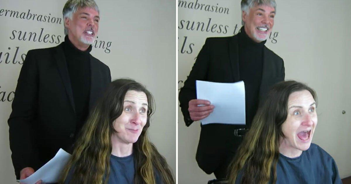 makeover guy.jpg?resize=412,232 - Le relooking incroyable d'une femme qui a décidé de couper 60 centimètres de ses cheveux