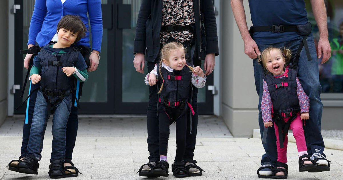 mother invented a harness to give disabled son chance to walk and helped many other families after its launch.jpg?resize=412,232 - Mother Invented A Harness To Give Her Disabled Son A Chance To Walk And It Also Helped Many Other Families