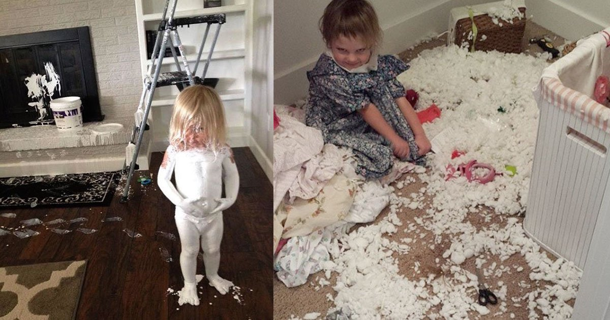 pictures that prove why you should not leave your kids alone.jpg?resize=412,232 - 20 Pictures That Prove You Should Never Leave Your Kids Alone