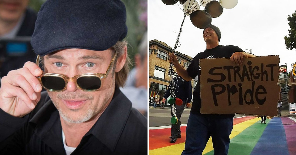 pitt3.png?resize=300,169 - Brad Pitt prend enfin la parole après qu'un groupe ait utilisé son nom et sa photo pour promouvoir le défilé de la fierté hétérosexuelle