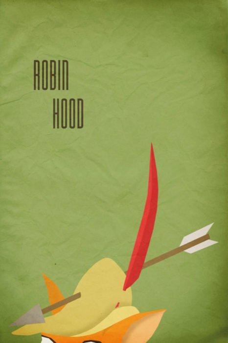 Poster Vintage de la película de Disney Robin Hood