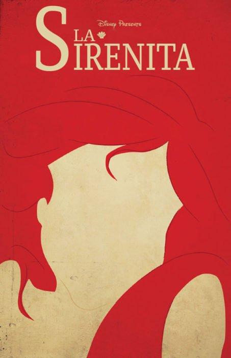 Poster vintage de la película de la Sirenita