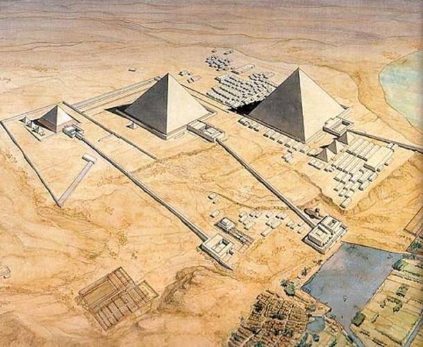 Resultado de imagen de piramide de giza antiguedad