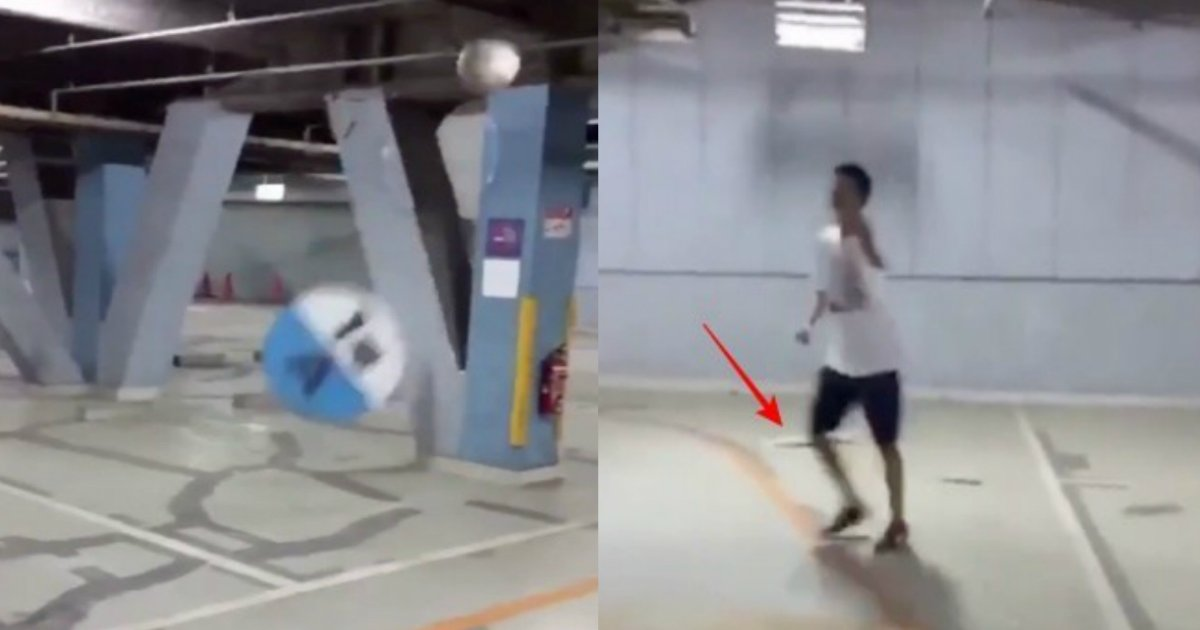 sakka.jpg?resize=1200,630 - 【動画】駐車場をサッカーボールで破壊し大炎上!犯人も特定か?