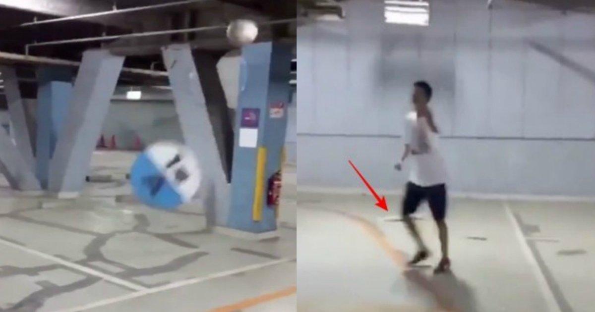sakka.jpg?resize=300,169 - 【動画】駐車場をサッカーボールで破壊し大炎上!犯人も特定か?