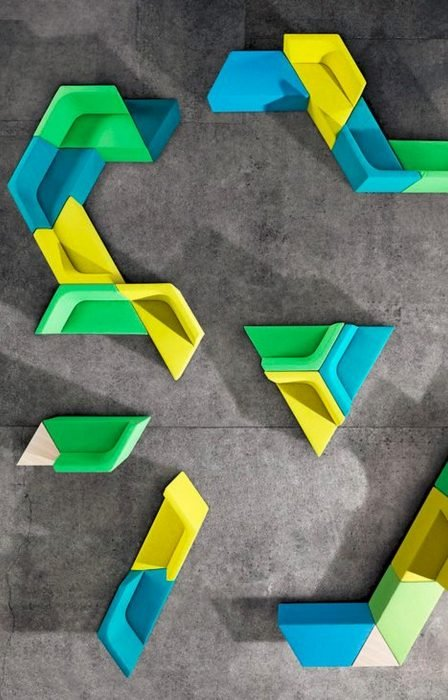 sillones geométricos