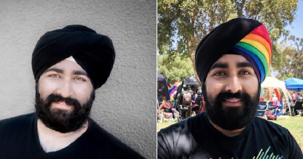 t4.jpg?resize=412,275 - This Man's Rainbow Turban For Pride Went Viral And Sent A Powerful Message About Inclusiveness