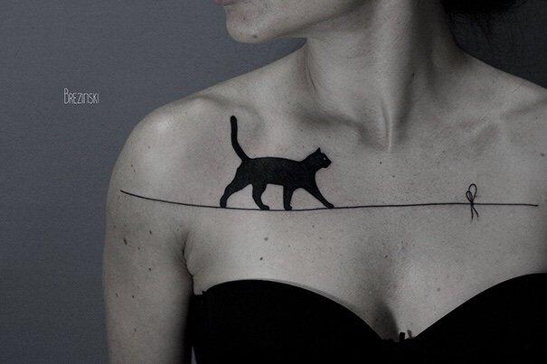 tatuagem de gato 04.jpg?resize=1200,630 - 15 Ideias de tatuagens incríveis para os apaixonados por gatos.