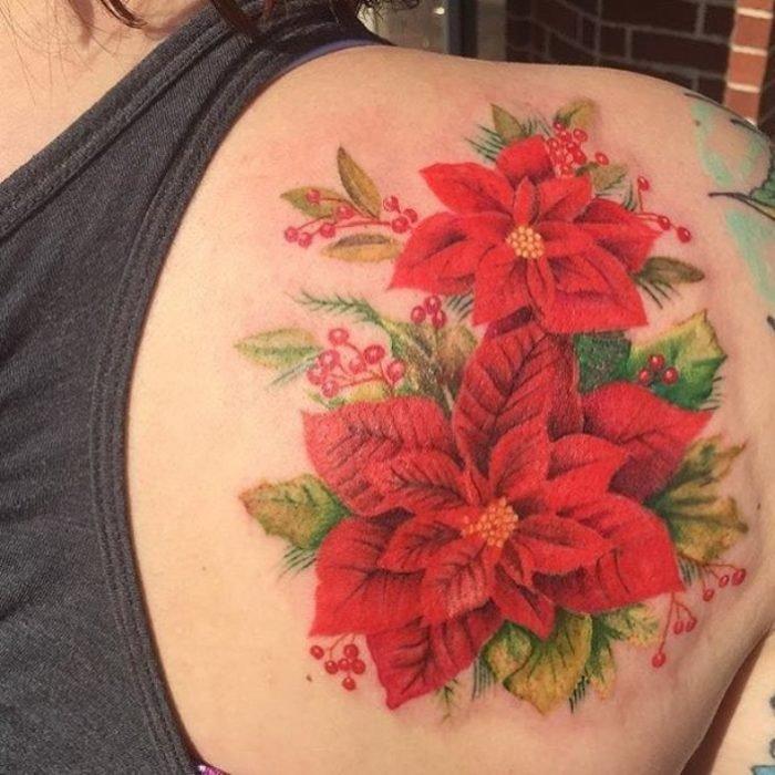 tatuaje de nochebuena
