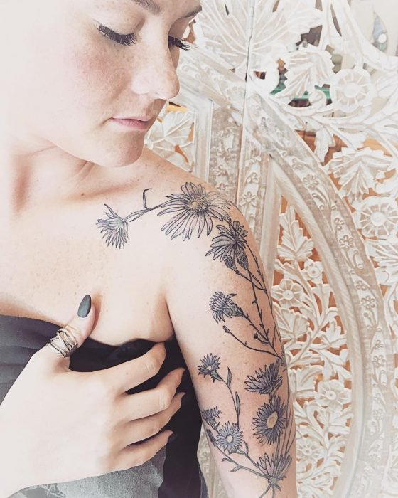 tatuaje de áster