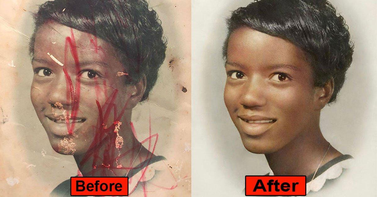 this is how damaged photos look like after restoration amazing result.jpg?resize=1200,630 - Voici comment des photos endommagées peuvent être restaurées à l'aide de Photoshop