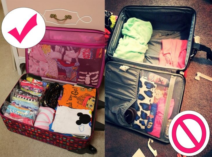 forma correcta en la que puedes empacar tu maleta