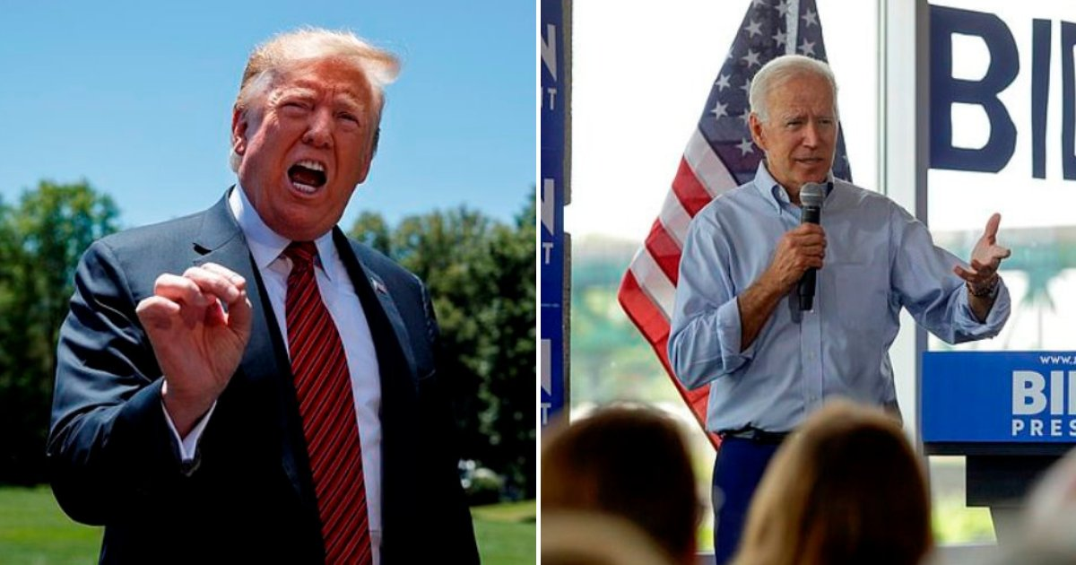 trump2 1.png?resize=1200,630 - Trump Called Joe Biden 'A Dummy' And Claimed He Is 'The Weakest Mentally' In The Field
