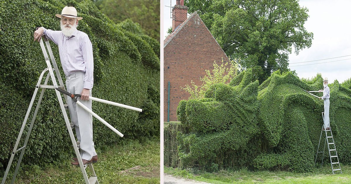 untitled 1 11.jpg?resize=412,232 - A Gentleman Spent 10 Years Turning 150-Ft-Long Hedge Into A Giant Dragon