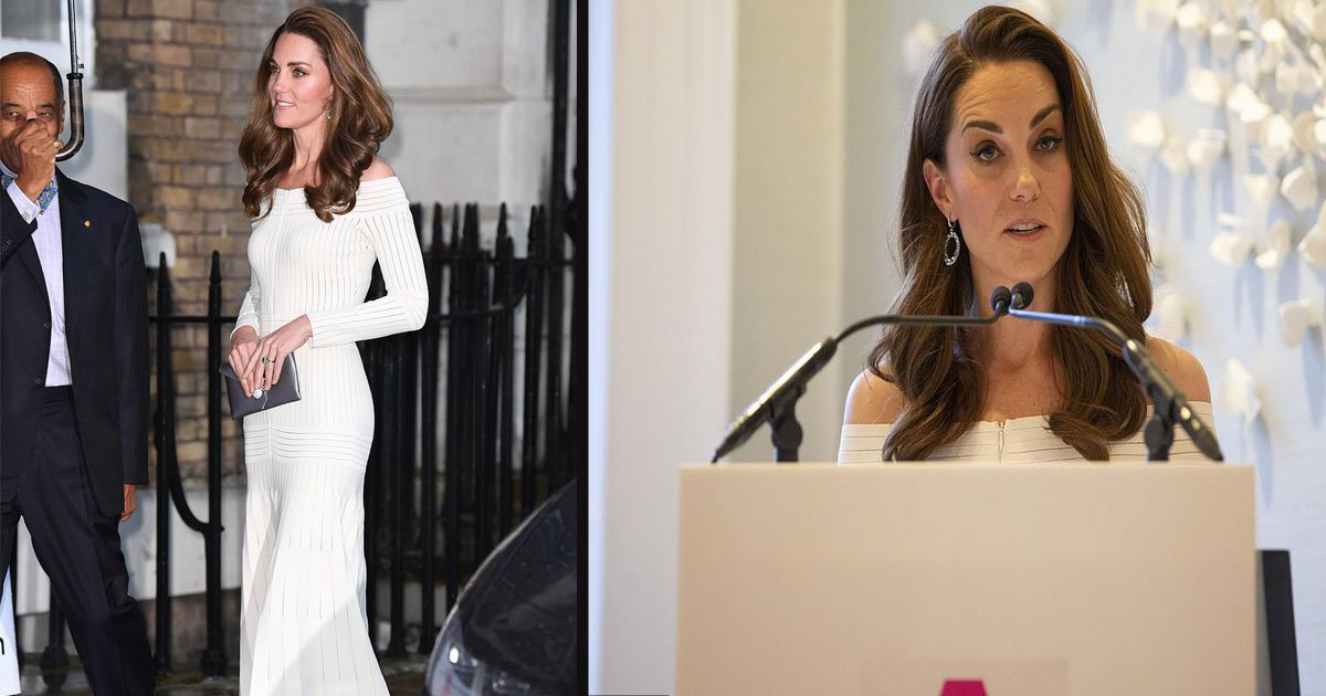 untitled 1 29.jpg?resize=412,232 - Kate Middleton Wore Recycled White Barbara Casasola Dress With Silver Jimmy Choos At A Charity Gala