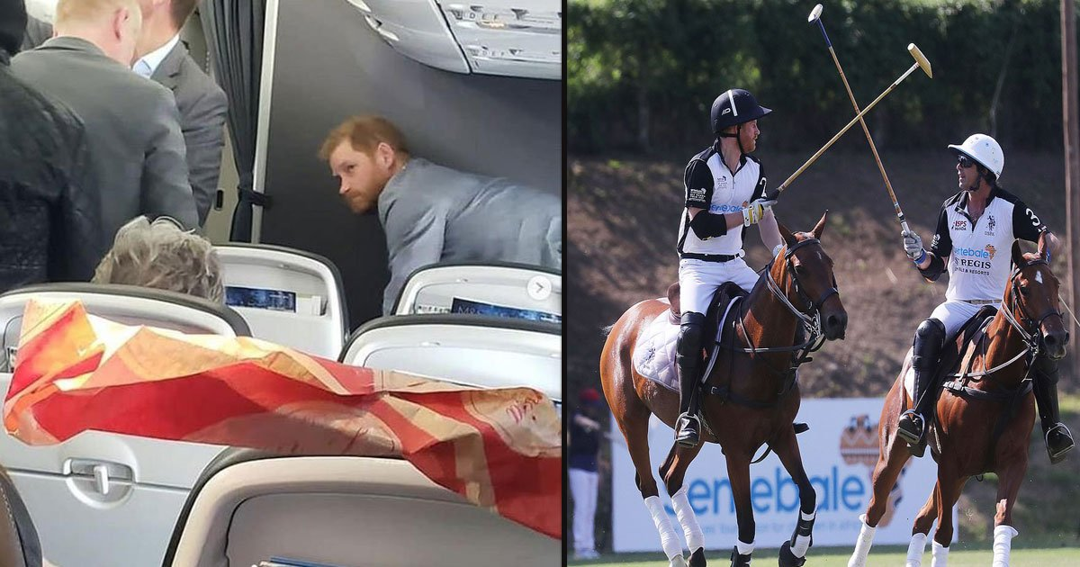 untitled 1 3.jpg?resize=1200,630 - Passengers Stunned To Find Prince Harry On A Commercial Flight While Returning From Rome